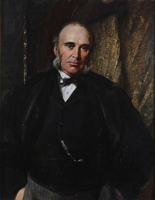 George Richmond : The Rt Hon W.H. Smith M.P./half length wearing a black coat