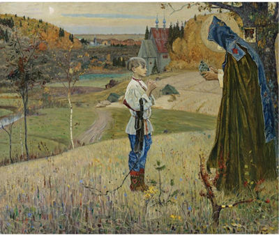 Mikhail Vasilievich Nesterov-VISION OF ST. SERGIUS, WHEN A CHILD