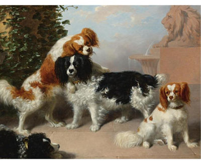 James William Giles : MR. J. A. SANDILAND'S KING CHARLES SPANIELS