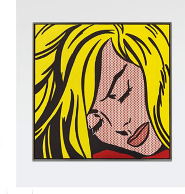 Roy Lichtenstein-SLEEPING  GIRL