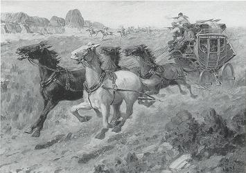 Herbert M. Herget-Attack on the Stagecoach