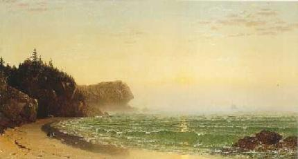 Alfred Thompson Bricher-Seascape: Sunset
