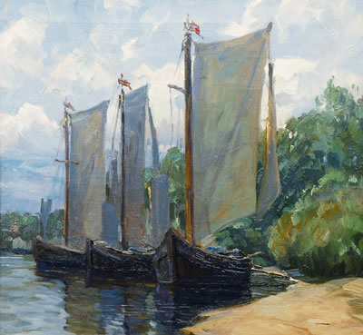 Daniel Staschus-Fisherboats on the Banks of the Courland Spit