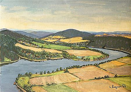 Vilem Logner-Slapy Dam - view from White Rocks
