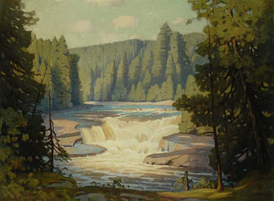 Frederick Henry Brigden-Falls on the Bow River