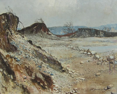 Evan Weekes MacDonald-Morning Light on a Gravel Pit