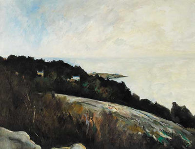 Peter Collis-DALKEY ISLAND FROM KILLINEY HILL
