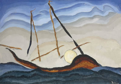 Arthur Garfield Dove-Boat Going Through Inlet