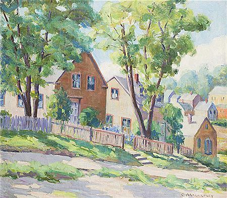 Catherine (Naomi) Macartney-Houses with a front sidewalk