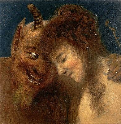Eduard Daelen-Nymph and Satyr
