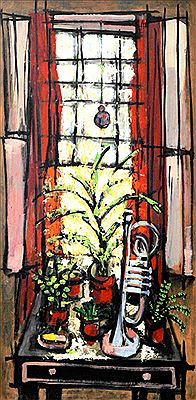 Fernando Zobel de Ayala Montojo-Garden Window with a Trumpet