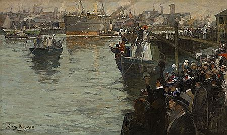 James Kay-DEPARTURE FROM THE CLYDE - BOUND FOR THE FRONT