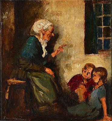 Salomon van Abbe-The storyteller