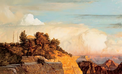 Earl L. Carpenter-Grand Canyon-View from Bright Angel Point